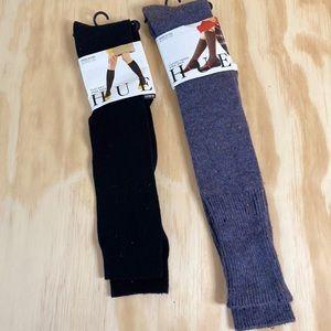 Two Pair HUE Knee Socks